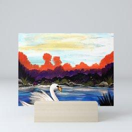 Swan Life Mini Art Print