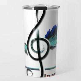Let the music fly Travel Mug