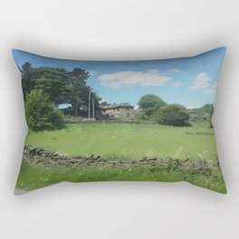 country landscape Holmfirth Rectangular Pillow