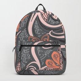 Polynesian Pink Tribal Print Backpack