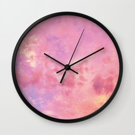Pastel Sunset Clouds Wall Clock