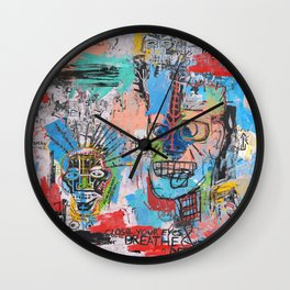 Close your eyes and breathe deeply Wall Clock