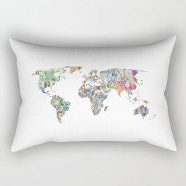 world currecy map Rectangular Pillow