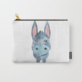Water Colour Baby Donkey Carry-All Pouch
