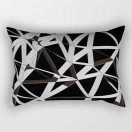 3D Futuristic GEO Lines V Rectangular Pillow