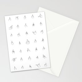 Black Middle Fingers Stationery Cards