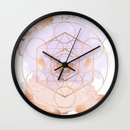 Light Me Up and Away - Copper Rose Gold Wall Clock