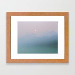Pastel Sunset at Lake Louise Framed Art Print