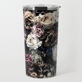 Flower Wall // Desaturated Vintage Floral Accent Background Jaw Dropping Decoration Travel Mug