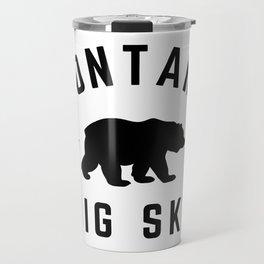 Montana Grizzly Bear Big Sky Country Established 1889 Vintage Travel Mug