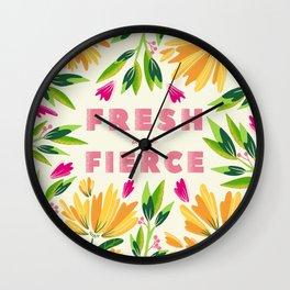 Fresh and Fierce Wall Clock
