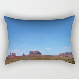 Traveling On Highway 163 Rectangular Pillow