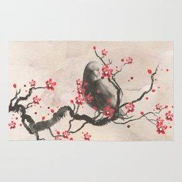 Cherry Blossom Raven Rug