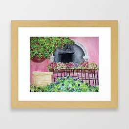 Geraniums and Bouganvilla Framed Art Print