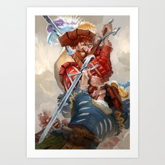 Landsknecht fight Art Print