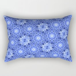 Blue and White Pattern Rectangular Pillow