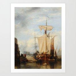 Edward William Cooke (1811-1880) St Peter Port, Guernsey Art Print