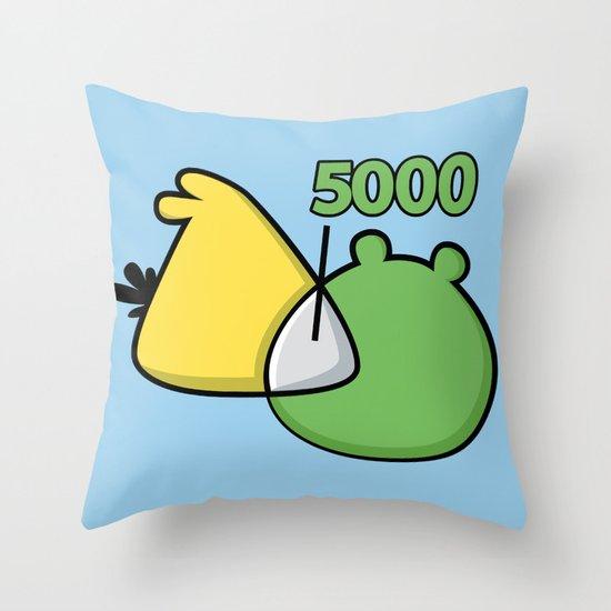 An Angry Venn Diagram (YELLOW) Throw Pillow