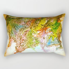 Crazy Ink Doodle Watercolor Monster Rectangular Pillow