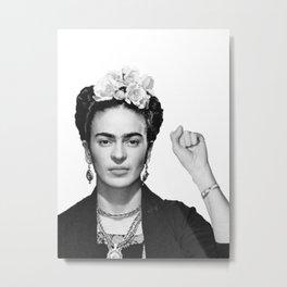Frida Kahlo Mug Shot Mugshot Metal Print