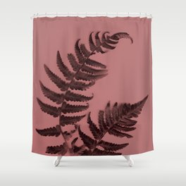 Fern on marsala Shower Curtain