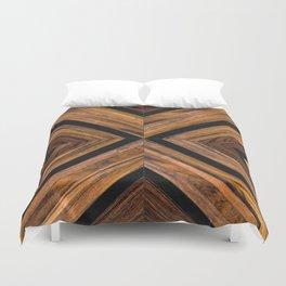 Urban Tribal Pattern 3 - Wood Duvet Cover
