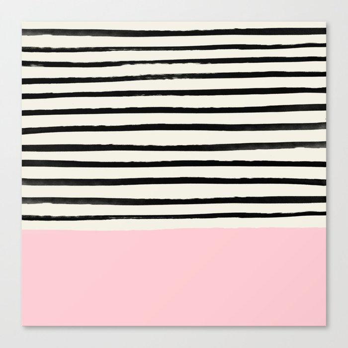 Millennial Pink x Stripes Leinwanddruck