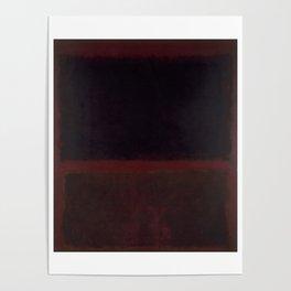 1960 Black on Dark Sienna On Purple by Mark Rothko Poster