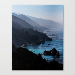 Big Sur Blue Canvas Print