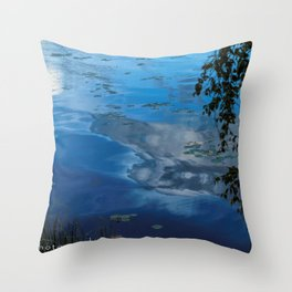 cloud reflections over lake eskiln Throw Pillow