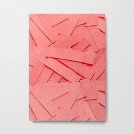 Strawberry Pink Bubblegum Strips Real Candy Photo Pattern Metal Print