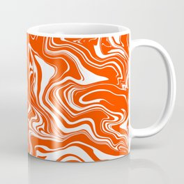 Orange and White Oil Spill Coffee Mug