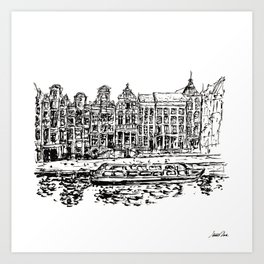 Urban Inkscape 9 Amsterdam Art Print