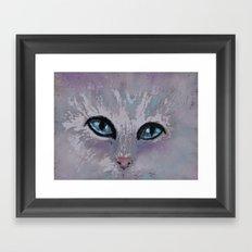 CAT EYES FOLLOW YOU Framed Art Print