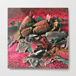 MOONROSE on RED ROSEMOON  Metal Print