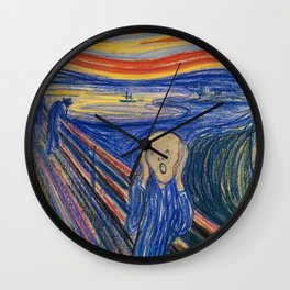 The Scream by Edvard Munch Wall Clock