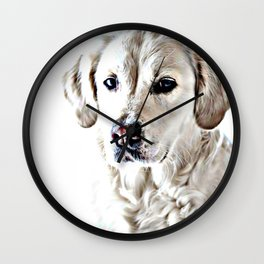 Drawing of a Yellow Lab Wall Clock