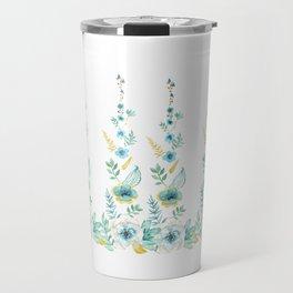 Blue Floral Twist Travel Mug