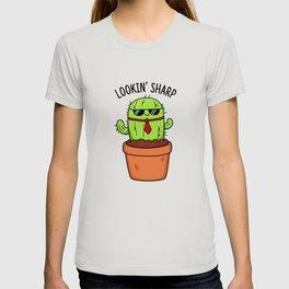 Lookin Sharp Cute Cactus Pun T-shirt