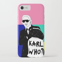 karl lagerfeld iPhone & iPod Cases featuring KARL WHO by TEN-iD
