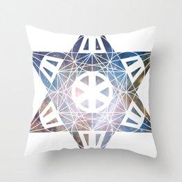Metatron's Cube Time Wheel ~ Orion 2 Throw Pillow