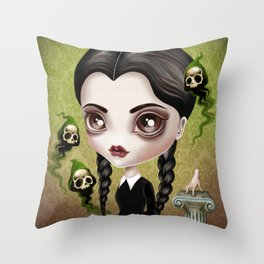 Be Afraid Throw Pillow