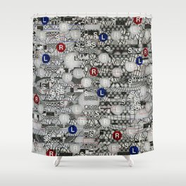 Do The Hokey Pokey (P/D3 Glitch Collage Studies) Shower Curtain
