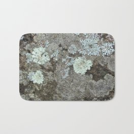 Lichen on granite Bath Mat