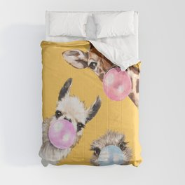 Bubble Gum Gang in Yellow Comforters