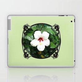 White Hibicus Flower Laptop & iPad Skin