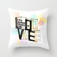 pablo picasso Throw Pillows featuring Pablo Picasso by MuDesignbyMugeBaris