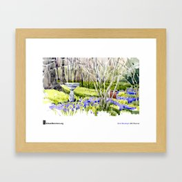 "Shari Blaukopf, ""Blue Lawn"" Framed Art Print"