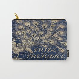 Pride and Prejudice, Peacock; Vintage Book Cover Carry-All Pouch