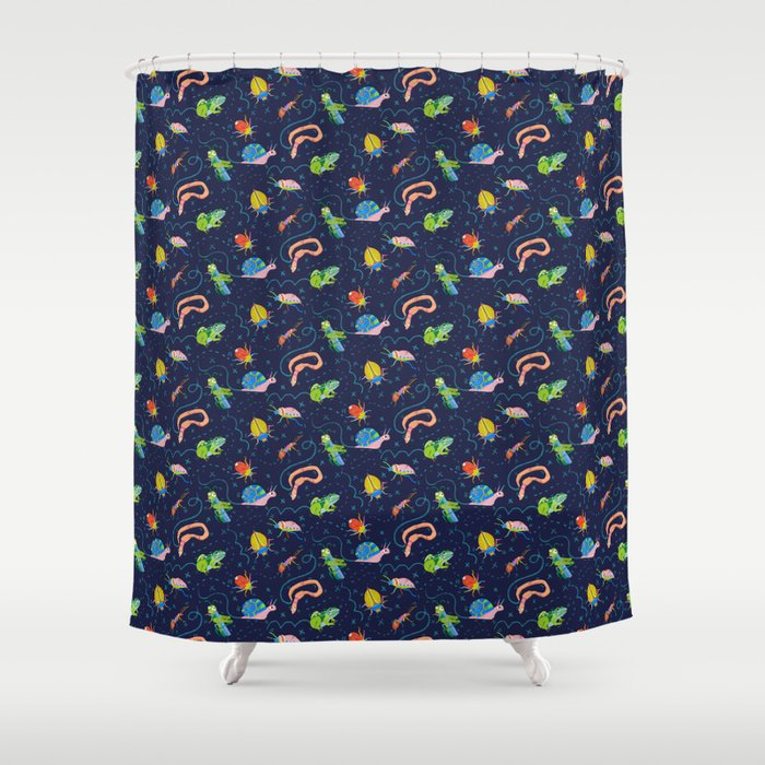 Bug Party Shower Curtain